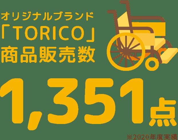 オリジナルブランド「TORICO」商品販売数1,351点
