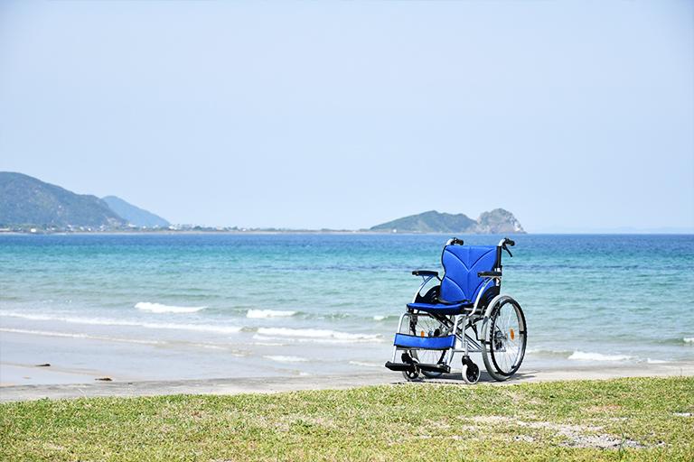 車椅子の検品作業